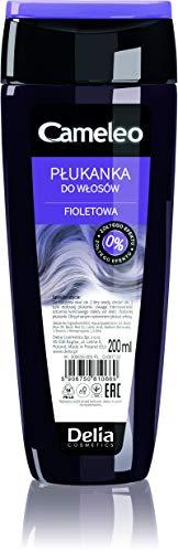 Cameleo - Lila Haar-Toner - semi-permanente Haarfarbe - lila Farbtöne OHNE Gelbstich, für blondes, platinblondes & graues Haar - lila Haare, Farbe & Pflege - parabenfrei - 200 ml