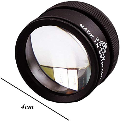 Handig en praktisch Vergrootglas van de Holding 30x40mm Vergrootglas Double Lens 30 Times Antieke Jade Jade Identification Precision Magnifier LOLDF1
