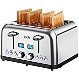 IKICH , Toaster Stainless Steel, Digital Countdown Toasters (6 Bread Settings, Bagel/Defrost/Reheat/Cancel