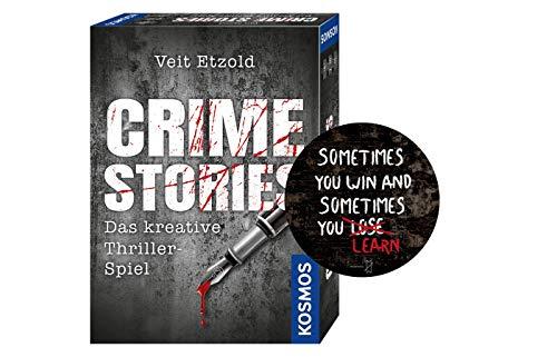 Collectix Kosmos 695224 Veit Etzold - Crime Stories, Das kreative Thriller-Spiel, Krimi Kartenspiel, spannende Rätsel ab 16 Jahre + Exit Sticker Sometimes You Win.. by