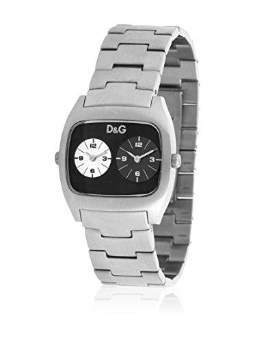 D&G Dolce&Gabbana D&G Dig It Extension - Reloj analógico unisex de cuarzo con correa de acero inoxidable plateada