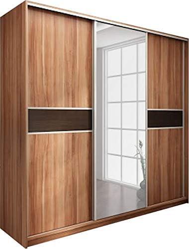 Moderne 3 Portes Coulissantes Armoire Avec Miroir Largeur 240 Cm Hauteur 216 Cm Profondeur 65 Cm Amazon Fr Cuisine Maison