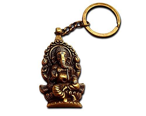 Llavero Original Ganesha Buda Elefante de Bronce Antiguo – Regalo para Hombre y Mujer – Llavero Hindou Regalo Mysticismo.