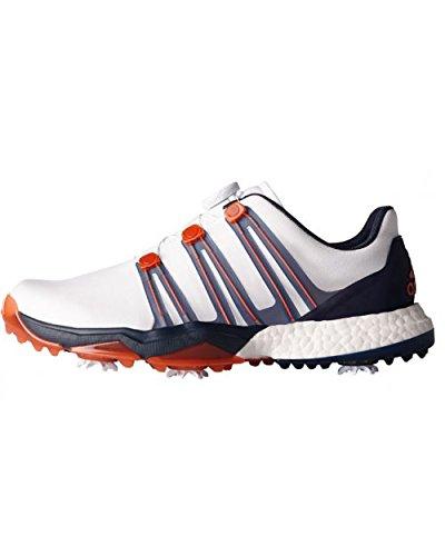Adidas Mäns powerband Boa Boost WD golfskor, flerfärgad (vit/orange/svart), 48 EU