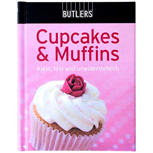 BUTLERS Kochbuch Mini-Kochbuch Cupcakes & Muffins - Backbuch mit vielen leckeren Kuchenrezepten - handliche kompakte Form