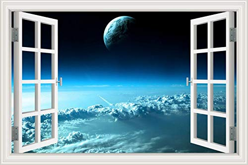 Weltraumuniversum Himmelskörper Galaxie Stern Schwarzes Loch Wandaufkleber Planeten Tapete Schlafzimmer Wohnkultur Wohnzimmer 3D Fenster Landschaft Aufkleber Wandbild