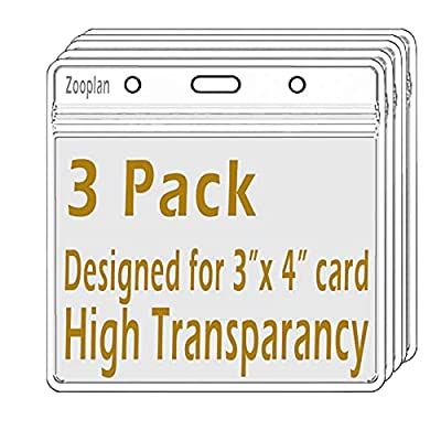 Waterproof Vaccination Card Protector 3 X 4 Inches Vaccine Cards Cover Immunization Record Card Holder Clear Vinyl Plastic Sleeve with Resealable Zip (3 Pack)