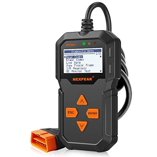 NEXPEAK OBD2 Reader NX301 Universal OBDII Car Diagnostic Scanner Tool for...