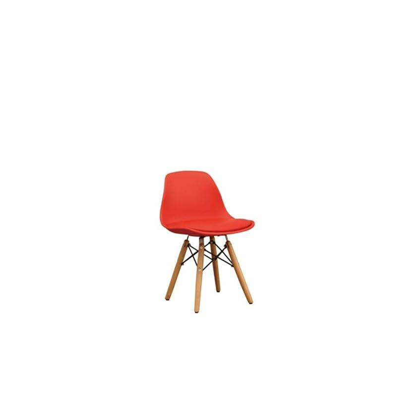ZXFBM 幼稚園の赤ん坊のおもちゃの椅子純木の子供の座席puの座席子供のスツール32cm×33cm×54cm 9色任意 (Color : F)
