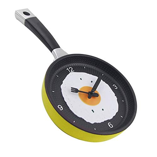 XYQY Besteck Design kreative Omelett Topfform Küchenuhr kreativer Moderne hängende Hauptdekoration TischYellow