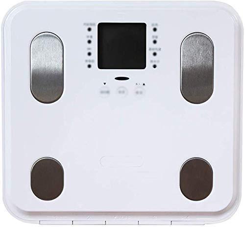 JINHH Básculas de baño Digitales Inteligentes, báscula de Peso Corporal Báscula de Grasa Corporal Báscula electrónica para el hogar Pérdida de Peso para Adultos Contador de Grasa Corporal