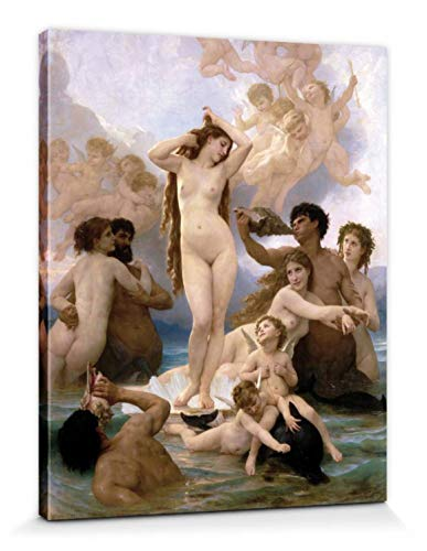 1art1 William-Adolphe Bouguereau - El Nacimiento De Venus, 1879 Cuadro, Lienzo Montado sobre Bastidor (50 x 40cm)