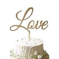 Lumierechat 結婚式 ウェディング ケーキトッパー ウェディングケーキ ケーキ トッパー 飾り 木製 Mr&Mrs デコレーション a-7436 (D-LOVE)
