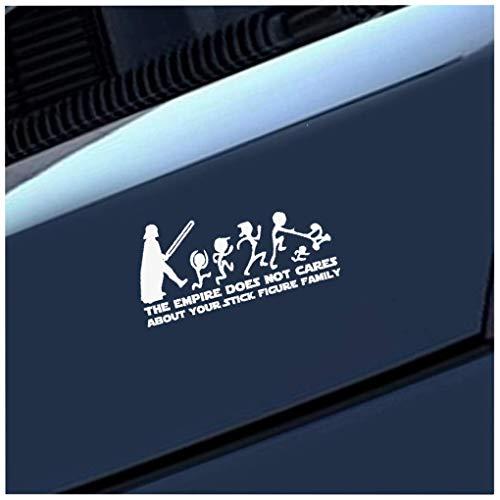 Adesivi X Auto 20cm x 10cm L'Impero non si preoccupa per la tua figura stilizzata Famiglia Star Wars Car Sticker JDM Decal Styling