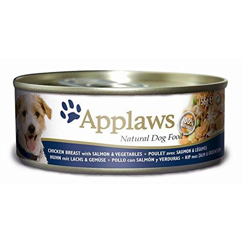 Applaws Lata para Perros, Pollo, salmón y arroz, 12 Unidades (12 x 156 g)
