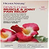 Higher Nature Devil's Claw Muscle and Joint Pain Relief - Pack of 40 Tablets