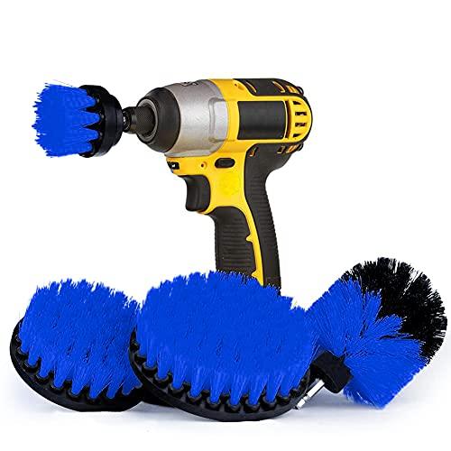 Houdao 4 piezas Cepillo Limpieza ElectricoDiferentes Tamaños de Multifunción Cepillo TaladroAzul para...