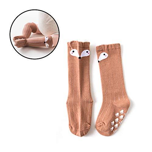Rodilla Naisicatar bebés de dibujos animados de animales Fox algodón Medias Altas piso calcetines adecuados para (Fox) del bonito regalo de 0-1 años de edad