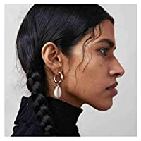 Olbye Shell Drop Earrings Circle Dangle Earring for Women and Girls Everyday Earring Jewelry [並行輸入品]