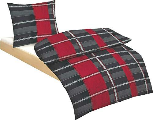2//3tlg DE Warm Fleece Winter Bettwäsche Schwarz Cashmere Touch Plüsch 155x220