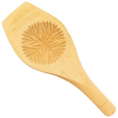 Alibabashop - Maamoul-Löffel »Khashab« - Runder Formlöffel aus Holz ca. 7,5 cm ø - zum Formen von Maamoul Gebäck & Kekse