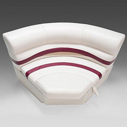 "DeckMate Premium Large 36"" Bow Corner Seat (Ivory/Burgundy/Tan)"