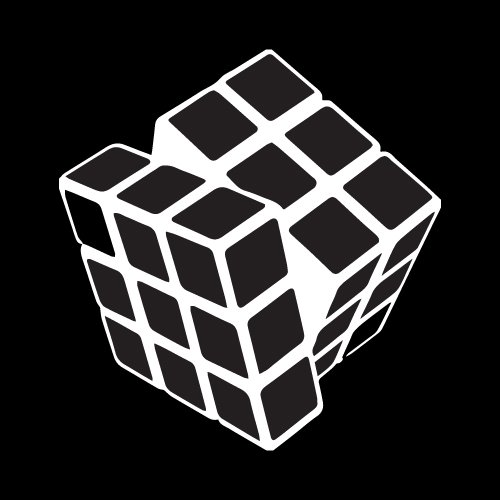 Gaming Decals Rubiks Cube Decal Car Window Vinyl Decal Sticker 6'x6' White
