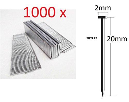 1000 stuks spijkers 20 mm voor elektrische nietmachine Parkside kwaliteit Duits type 47