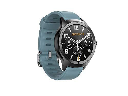 HalfSun - Reloj inteligente de actividad física para hombre y mujer, impermeable IP68, con podómetro, monitor para la presión de la sangre, pulsómetro, reloj inteligente con cronómetro (azul)