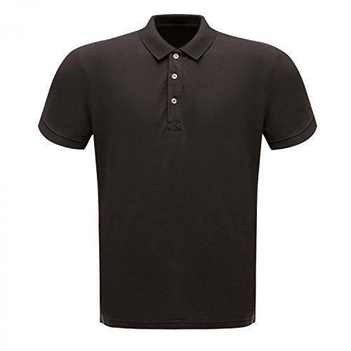 Regatta Professionell 65/35 Herren Klassik Poloshirt (XXXL) (Schwarz)