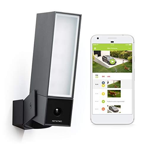 Netatmo Smart bewakingscamera buiten, wifi, geïntegreerde verlichting, bewegingsdetectie, nachtzicht, zonder abonnement, NOC01-DE (Presence)