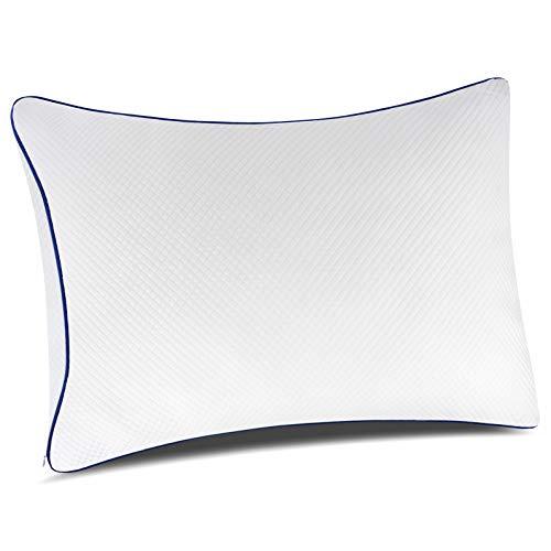 PillowLY Almohadas para Problemas cervicales de Espuma viscoelastica triturada para el Apoyo del Cuello y el Alivio del Dolor – 2 Zonas de Comodidad Cervical (Suave y Firme) Ajustables 🔥