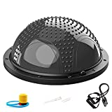 IKARE Balance Trainer Stability Half Ball, Balance Ball with Resistance Bands and Foot Pump, Improve Core and Ab Strength, Yoga Home Gym Workouts Fitness Training Strength Exercise Physical Therapy