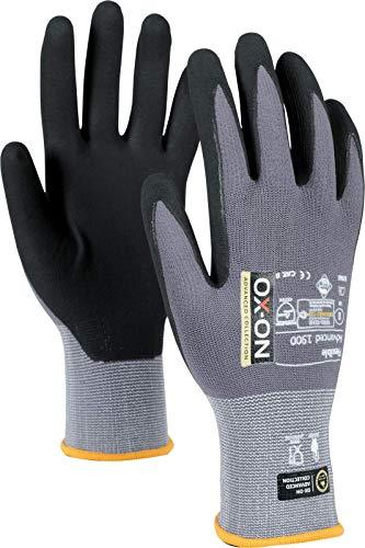 HandschuhMan. OX-ON Flexible Advanced 1900 Nitril Montagehandschuhe Größe 6-12, langlebig und touchscreenfähig, Super Passform (11/XXL)