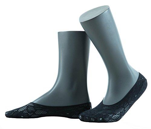 Gatta Jacquard Footer 02 - elegante Netzfüßlinge mit schönem Design - onesize - Nero