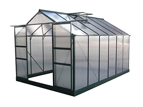 Viva Green 1299_69182Dahlia Serra da Giardino in policarbonato/plastica, 9,24m², 371x 249x 226cm, Colore: Verde Abete