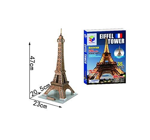 SUPER JUGUETE Puzzle 3D Torre Eiffel 35 Piezas