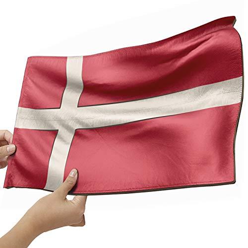 Dänemark Flagge als Lampe aus Holz - schenke deine individuelle Dänemark Fahne - kreativer Dekoartikel aus Echtholz
