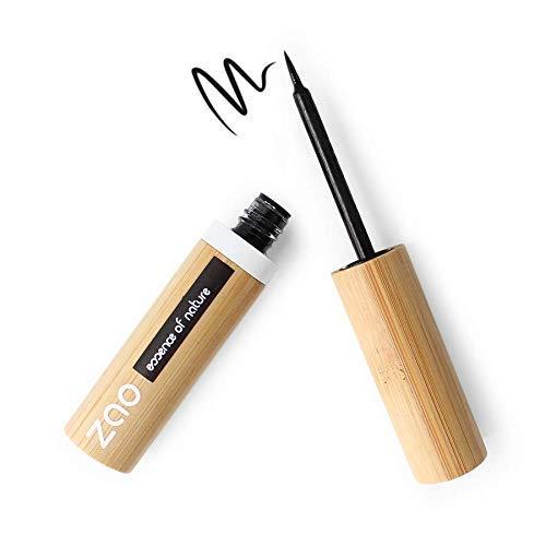 ZAO - Eyeliner en bambou avec pointe feutre - n° 066 / Noir intense - 4,5 g