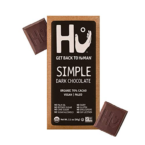 Hu Chocolate Bars | 4 Pack Simple Chocolate | Natural Organic Vegan, Gluten Free, Paleo, Non GMO, Fair Trade Dark Chocolate | 2.1oz Each