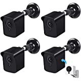 Wyze Camera Outdoor Wall Mounting kit,Upgraded Weatherproof Wall Mount for Wyze Camera 1080p HD Camera,360 Degree Protective Adjustable Mounting Bracket,Indoor Outdoor Use(Black,4 Pack)