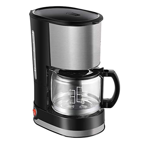 Koffiezetapparaat, Stainless Steel Drip Koffiezetapparaten, 600Ml Amerikaanse Koffiemachine Met Anti-Drip-Functie, Filter Koffiezetapparaat Voor Koffie En Thee, Zwarte