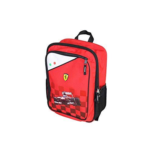 CARTORAMA Zaino Tempo Libero Ferrari Mochila infantil, 38 cm, Rojo (Rosso)