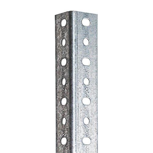 Perfil Galvanizado Estantería Para montaje con Tornillos (Tornillos no incluidos De Venta en nuestra tienda). 40 mm x 2000 mm. 8 unidades.