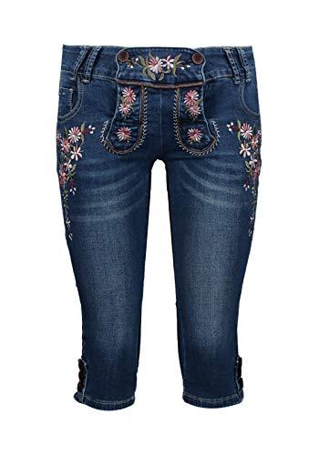 Zabaione Jeans Petra mit Stickerei, Farbe:Blau, Größe:42