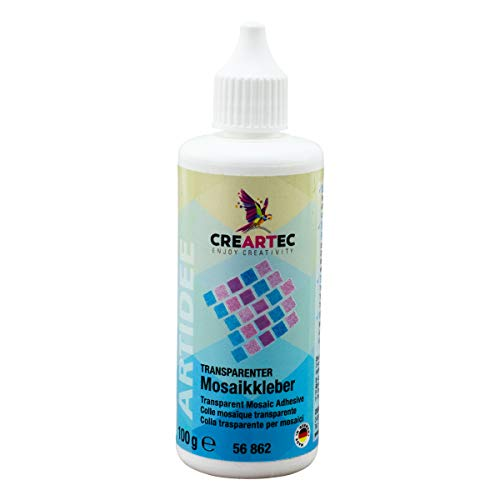 Artidee CREARTEC transparenter Mosaikkleber - Schmucksteinkleber für Nicht saugfähige Untergründe - 100g - Made in Germany