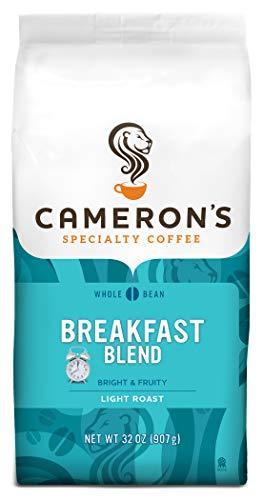 Cameron's Coffee Roasted Whole Bean Coffee, Breakfast Blend, 32 Ounce