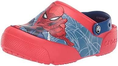 Crocs Kids' Fun Lab Spiderman Light-Up Clog, Flame, 10 M US Toddler