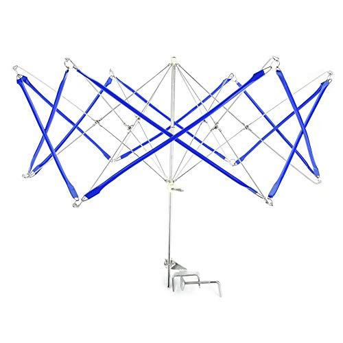 String Winder, IJzeren Paraplu Vorm Garen Winder en Swift Breien Haak String Winder Houder Machine (Blauw)