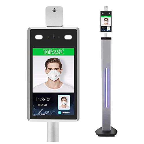 Face Recognition Body Temperature Measurement - Infrared Body Temperature Detection Terminal Scanner All-in-One Machine (Stand Included)